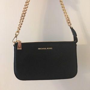Michael Kors Black Chain Handle Leather Bag NWT!